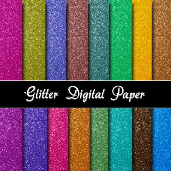 Accomplished image in printable glitter paper