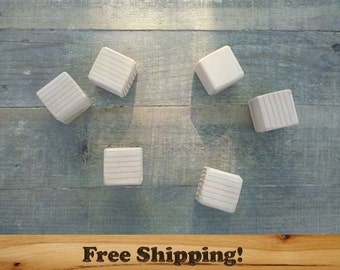 20 Fir Wood Blocks, All Natural Baby blocks, Baby Shower Activity, 1.5 Inch Square Wooden Building Block Set