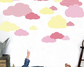 Cloud Wall Decals - Cloud Fabric Wall Decals