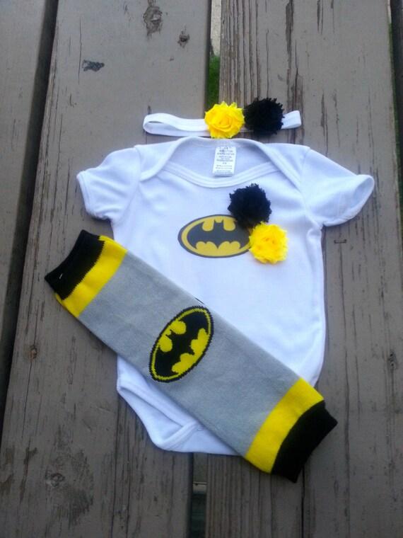 Batman Girl Onesie - Bat Girl - Super Hero - Baby Shower - Halloween - Birthday - 2T, 3T, 4T, 5T