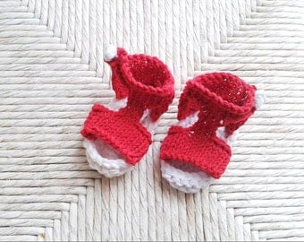 Instant download, Knitting PATTERN for baby summer  sandals (PDF file),knitted baby sandals