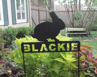 Rabbit Memorials,Bunny Pet Memorials,Pet Memorial,Rabbit Memorial,Metal Rabbit Signs,Metal Pet Memorials, Rabbit Grave Marker, Rabbit Signs
