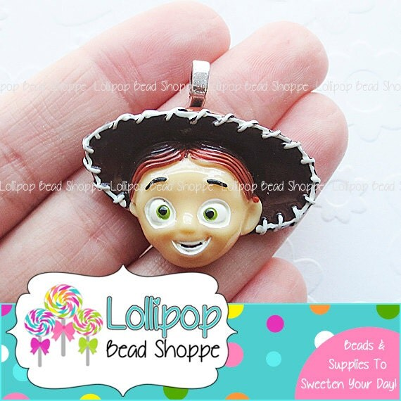 Toy Story Gum : Andy cowboy toy story pendants flat back resin cabochon