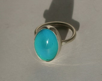 Handmade Sterling Silver Smooth Bezel Mood Ring
