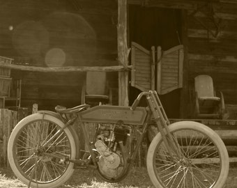 20x30 inch poster of a 1914 Harley Davidson motorcycle
