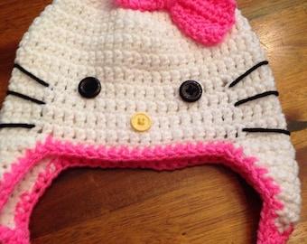 Crochet Hat Hello Kitty