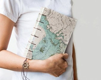 Large Travel Journal, Notebook, Sketchbook - North Ploe Map