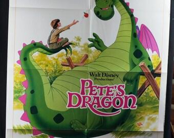 "Movie Poster  ""Pete's Dragon""  (1977) Original Movie Poster re-release 1984 -  Helen Reddy, Mickey Rooney"