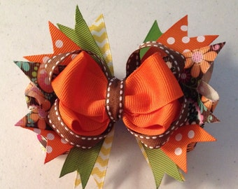 "5"" Fall Hair Bow"