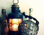 Antique Nautical Ship's Lantern - Electric Lamp, Coastal Charm