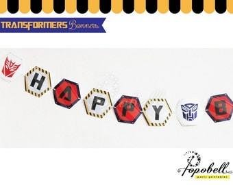Transformers Pennant Banners. Transformers banner. Transformers Birthday Party. Transformers Party. Transformers Flags. Transformers Bunting