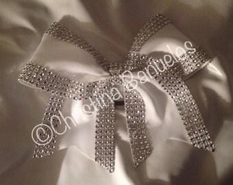 Elegant Glitzy Glam Cheer Bow - #187661815