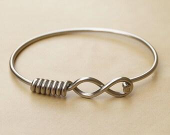 Silver Infinity Bicycle Spoke Bracelet