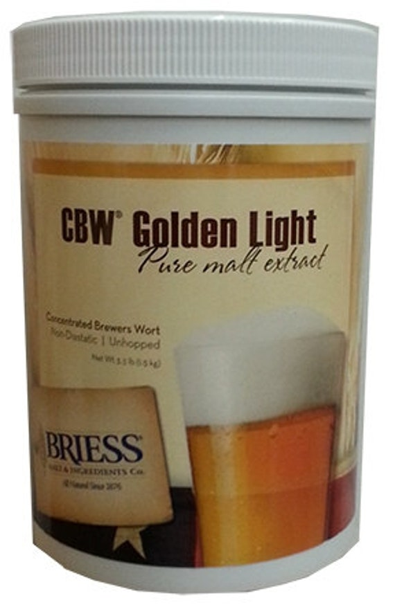 Briess GOLDEN LIGHT Liquid Malt Extract LME For Beer Making 3.3 Lb Canister