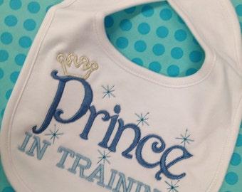 Baby Boy Bib Prince Crown
