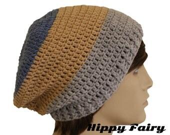 Mans hat, mens slouch hat, crochet beanie Mens beanie hat, , crochet mens hat, beanie for men, vegan hat