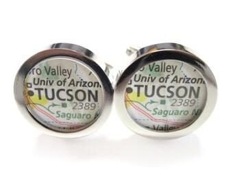 Tucson Arizona Map Cufflinks