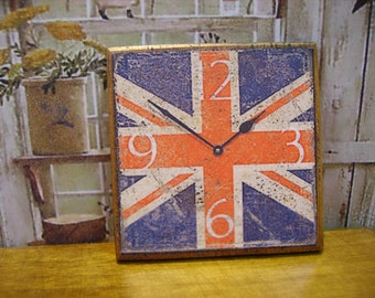 Union Jack Miniature Wall Clock 1:12 scale