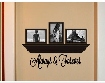 Always and Forever vinyl wall decal