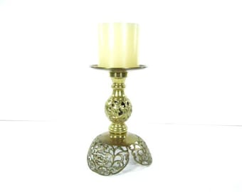 CANDLE HOLDER, Brass candle stick,Brass Centerpiece, Shabby Chic Candle Holder, brass candle holder,Candle Holder. Gift