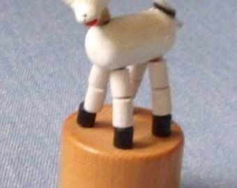 Little Wooden Lamb Miniature