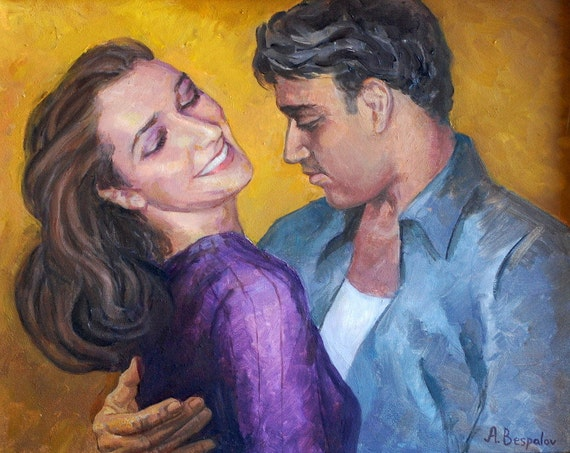 Bachata Bliss PRINT or CANVAS Dance Art. Intimate couple dancing -  desire, lust, love. Wedding gifts for couple