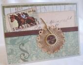 Masculine Card - Handmade Card - Blank Card - Handmade Masculine Card - Vintage Style - All Occasion Card - Classy Masculine Card - PrettyByrdDesigns