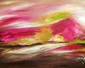 Original Contemporary Art Print by Susan Doyle Art, original, blue, purple, forest, brown, pink, figure, abstract, yellow