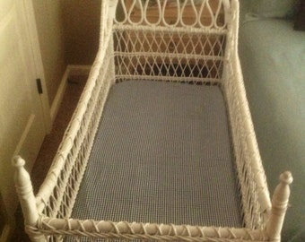 Antique Wicker Baby Bed