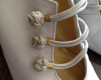 Vintage Rare Charles Jourdan Suede Shoes