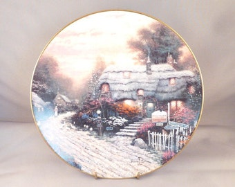 Wall Plate, Bradford Exchange, Thomas Kincade, Olde Porterfield Tea Room, Collectors Plate, Vintage, Mint Condition