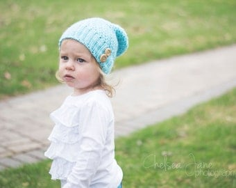Slouchy Girls Hat  ( Made To Order)