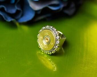 Shotgun Casing Jewelry - Delicate Shotgun Bullet Ring (20 Gauge OR 12 Gauge)