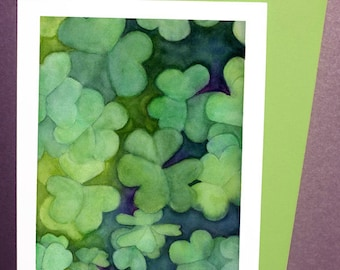 Shamrock Clover St. Patrick's Day Card or Print