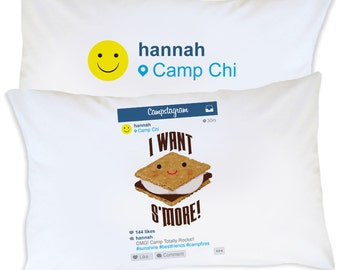 Kids Personalized Camp Pillowcase, Custom Camp Pillow