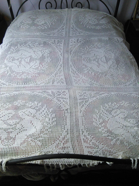 handgefertigte spitzen h keln vorhang bettdecke tagesdecke. Black Bedroom Furniture Sets. Home Design Ideas