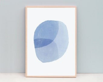 Large Abstract Painting, Cornflower Blue Art, Powder Blue, Abstract Art, Minimalist Blue Art, Large Blue Art, Blue Wall Art, Soothing Art