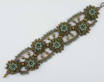 Beading Tutorial - Romantic Rosette Bracelet