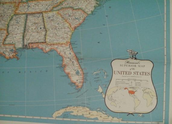 Hammond (IN) United States  city photos gallery : Hammond Superior United States Map 1963 Large Wall Map Art Decor ...