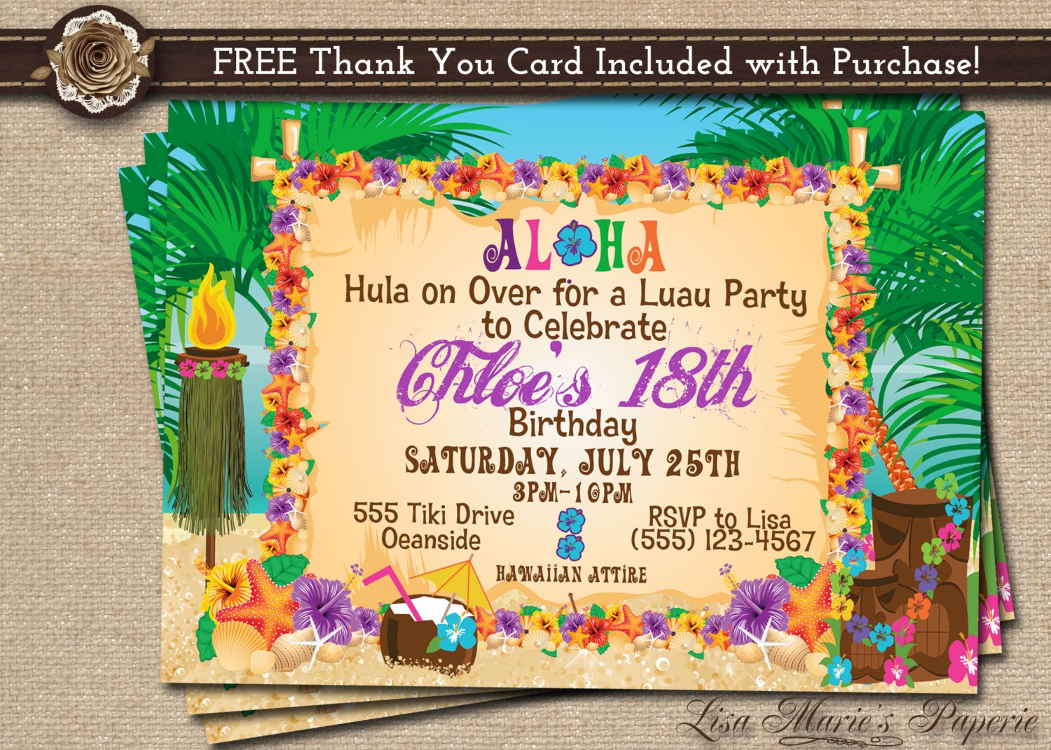 Luau Birthday Party Invitations is the best ideas you have to choose for invitation example