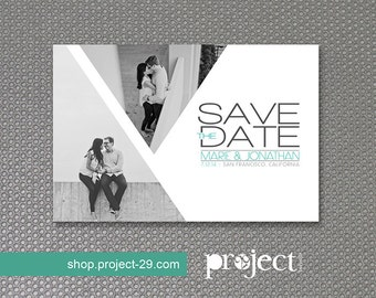 Wedding Save the Date Postcard or Magnet  // Multiple Pictures // Affordable DIY Printable
