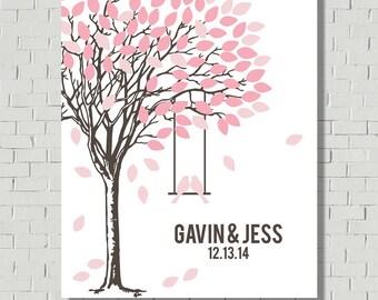 Wedding Guest Book Alternative Wedding Tree, Wedding Signs Guest Book Sign, Wedding Gift Bridal Shower Gift, Guest Book Ideas Guestbook Tree