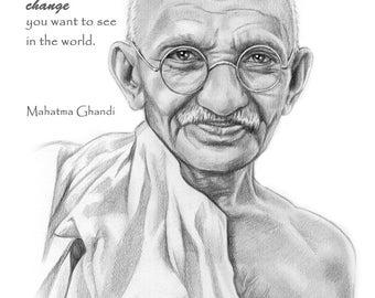 Ghandi portrait