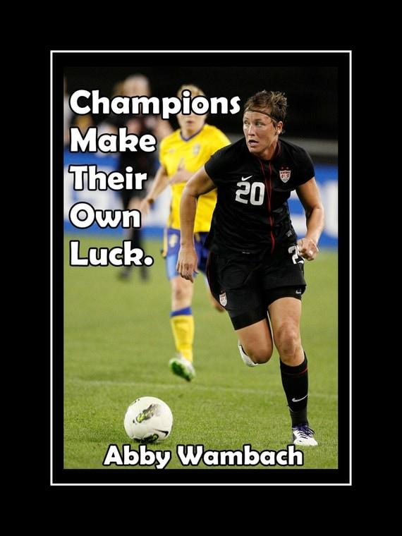 Soccer Poster Abby Wambach Olympic Champion Photo by ArleyArt