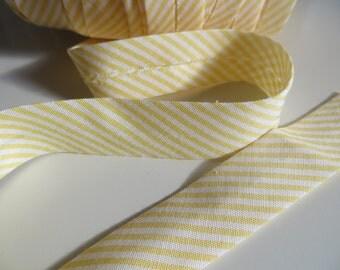 SALE Yellow Stripes Bias Tape Cotton Bias Binding Mercerie 1 meter