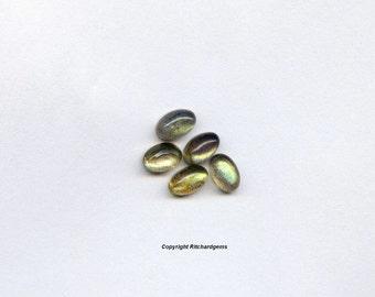 6x4 mm Semi Precious Oval Cabochon Cut Labradorite For Two
