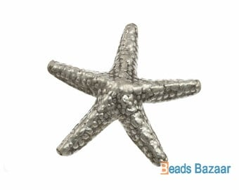 Karen Hill Tribe silver Starfish Charm, 46 mm / Starfish pendant