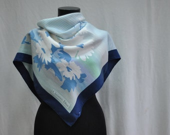 Vintage CHRISTIAN DIOR , silk scarf ...