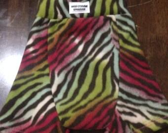 Rainbow Zebra Shorts/Shorties - Diaper Cover Sz Large (12-18mo)