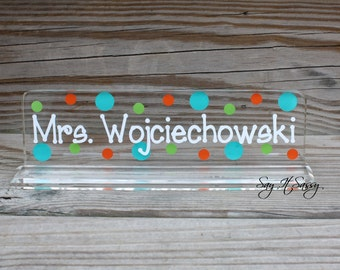 Personalized Teacher Nameplate - Great Teacher Gift - Desk Name Plate